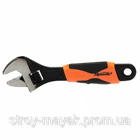 Ключ разводной 150 мм, двухкомпонентная рукоятка, SPARTA