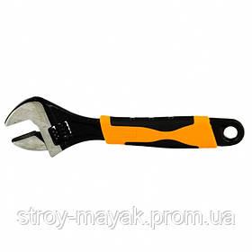Ключ разводной 200 мм, двухкомпонентная рукоятка, SPARTA