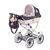Детская классическая металлическая коляска для кукол в королевском стиле с сумочкой, подушкой и матрасом 81032