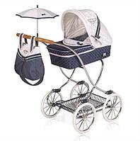 Детская игрушечная классическая коляска для кукол и пупсов с зонтиком, сумкой и корзиной для игрушек