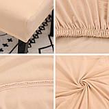 Чехол на стулья универсальный для мебели цвет бежевый  Код 14-0704, фото 6