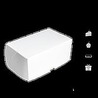 Коробка для торта КТ 0200 (3 эклера) белая 177*118*78мм (уп/25шт) (Р), фото 1