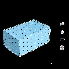 Коробка для торта КТ 0214 голубая 177х118х78мм