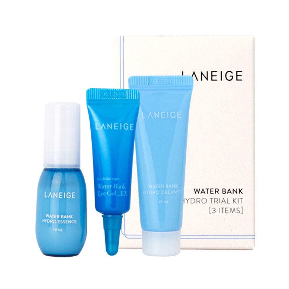 Набор миниатюр увлажняющих средств для ухода за кожей лица Laneige Water Bank Hydro Trial Kit 3 шт