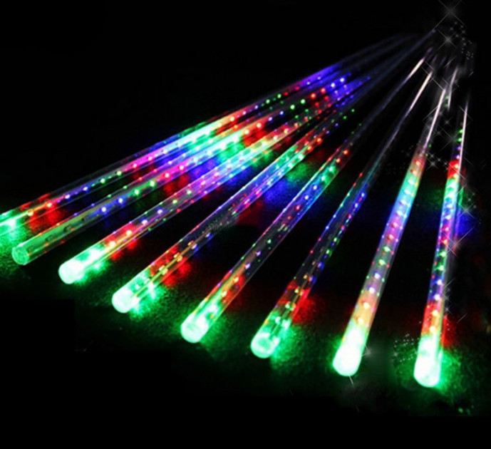 LED Гирлянда-Метеоритный Дождь 50 см, 8 шт. Цветная
