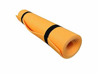 Коврик для фитнеса и спорта  Naprolom А8 плюс, оранжевый