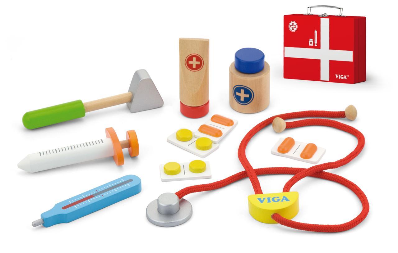Деревянный игровой набор Чемоданчик доктора Viga Toys 50530