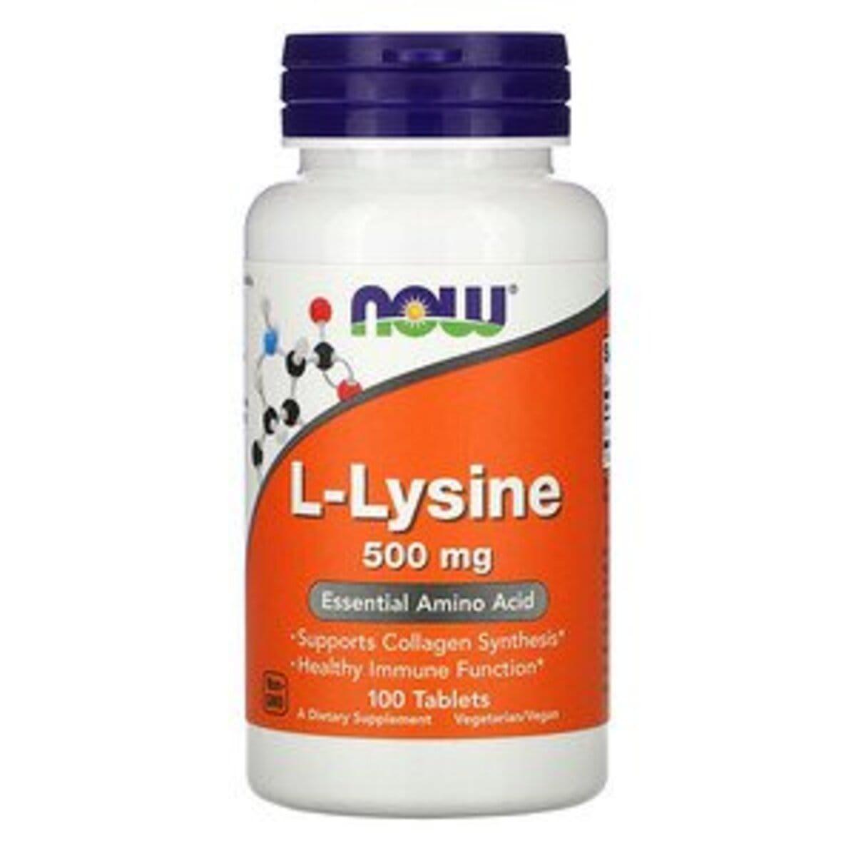 L-Лизин, L-Lysin, Now Foods, 500 мг, 100 таблеток