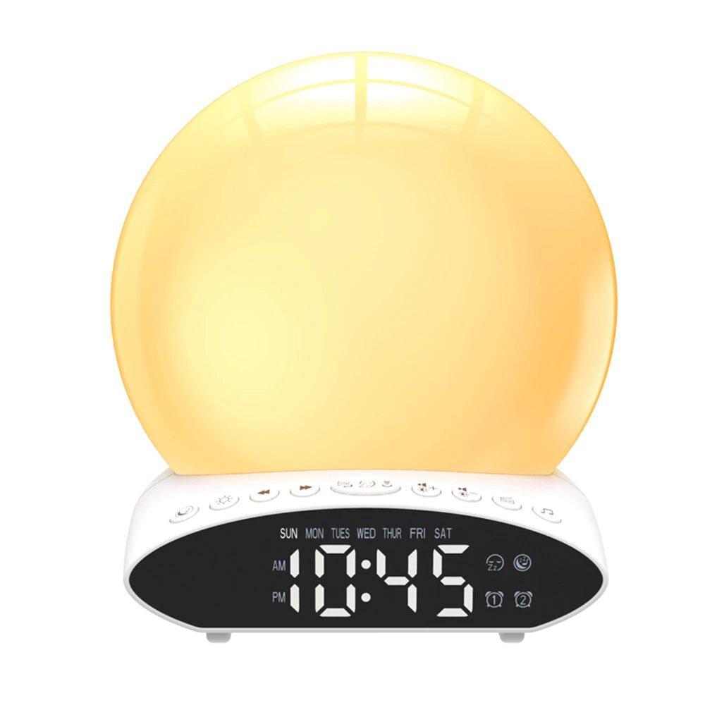 Цифровой световой будильник с проектором с имитацией рассвета