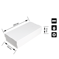 Коробка для суши СУ 0300 (2ролла) белая 100*200*50мм 25шт/уп (Р), фото 1