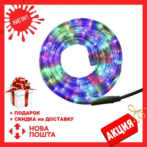 Гирлянда дюралайт   светодиодная лента   круглый шланг 7189, RGB, 10м с контролером на 220в (Микс)