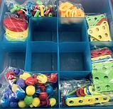 Конструктор мозайка детский TU LE creative puzzle 4в1 чемодан 193 детали креатив пазл, фото 6