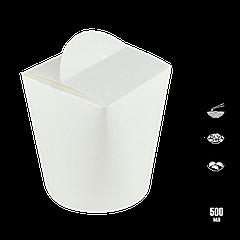 Упаковка для лапши белая 500 мл