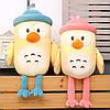Игрушка с пледом Пингвин в голубой шапке, плюшевая декоративная игрушка-плед 2в1, фото 3