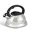 Чайник Edenberg EB-1347 со свистком из нержавеющей стали 3 л индукция   Свистящий металлический чайник, фото 3