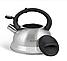 Чайник Edenberg EB-1347 со свистком из нержавеющей стали 3 л индукция   Свистящий металлический чайник, фото 4