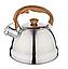 Чайник Edenberg EB-1988 со свистком из нержавеющей стали 2 л | Свистящий металлический чайник, фото 2