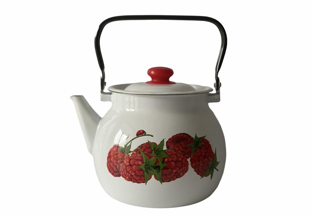 Чайник эмалированный 3,5л Малина 27130/2 Idilia