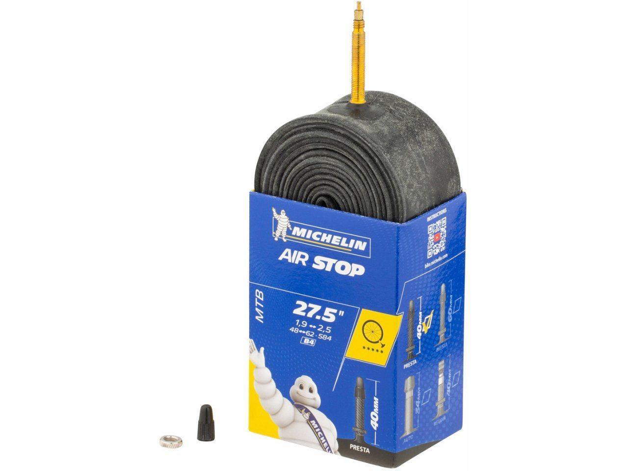 """Камера для велосипеда Michelin B4 Air Stop 27.5"""" x 1.9-2.5 (Presta, FV)"""