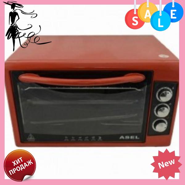 Духовка ASEL AF-0723 50-23 настольная красная   Электрическая духовая печь