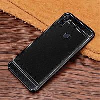 Чехол Fiji Litchi для Samsung Galaxy A11 (A115) силикон бампер с рифленой текстурой черный