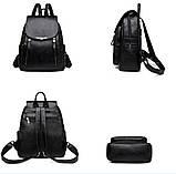 Женские рюкзаки Цвет черный, фото 3