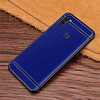 Чехол Fiji Litchi для Samsung Galaxy A11 (A115) силикон бампер с рифленой текстурой синий