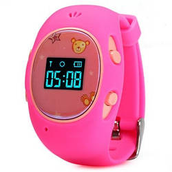 Детские часы с GPS-трекером G65 Розовые   смарт часы   умные часы