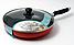 Сковорода с антипригарным покрытием с крышкой Maestro MR-1200-28 желтая | сковородка Маэстро, сотейник Маестро, фото 6