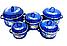 Набор эмалированных кастрюль с крышками Benson BN-121 желтый (10 предметов) | кастрюля Бенсон, Бэнсон, фото 2