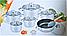 Набор кастрюль Benson BN-290 из нержавеющей стали 12 предметов (+ ковш, сковорода) | кастрюля Бенсон, Бэнсон, фото 4