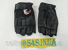 Рукавички спортивні багатоцільові BC-160 (шкіра) L