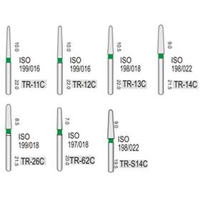 Алмазные турбинные боры грубые (125-150μ), TR - конус с круглым кончиком