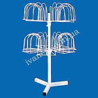 Стойка вертушка для шапок 42 позиции настольная, фото 1
