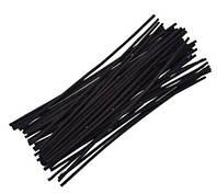 Палочки для аромадиффузора 20 см, диаметр 4 мм, Черные, Волокно