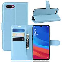 Чехол-книжка Litchie Wallet для Oppo A5s / AX5s Blue