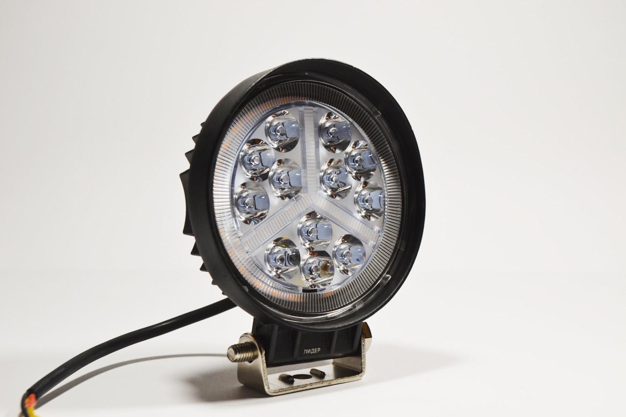 Светодиодная LED фара рабочая 36вт,(3Вт*12ламп) + Поворотник