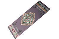 Коврик резиновый для йоги Bavar Sport 5мм с рисунком ромба