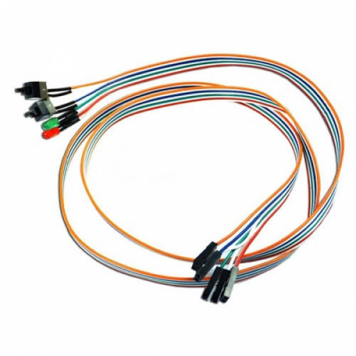 Кнопка включения питания перезагрузки ПК Power SW + Reset SW HDD индикаторы, 105380