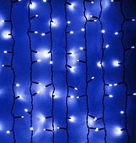 Гирлянда штора уличная 120LED (Ø 3,3) 3.51м (флеш) (ЧП) Синий (RD-7121), фото 3