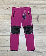 Теплые термо-брюки на флисе. Внутри утяжка. 152 - 158 рост.