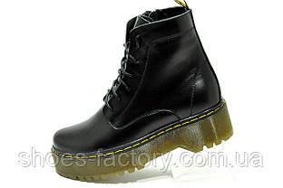 Кожаные ботинки в стиле Dr. Martens Доктор Мартинс на меху Зимние