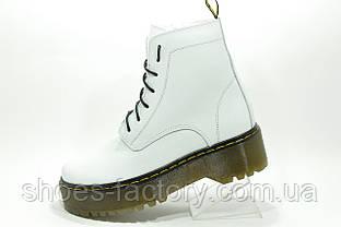Белые ботинки в стиле Dr. Martens Доктор Мартинс Кожаные Зимние