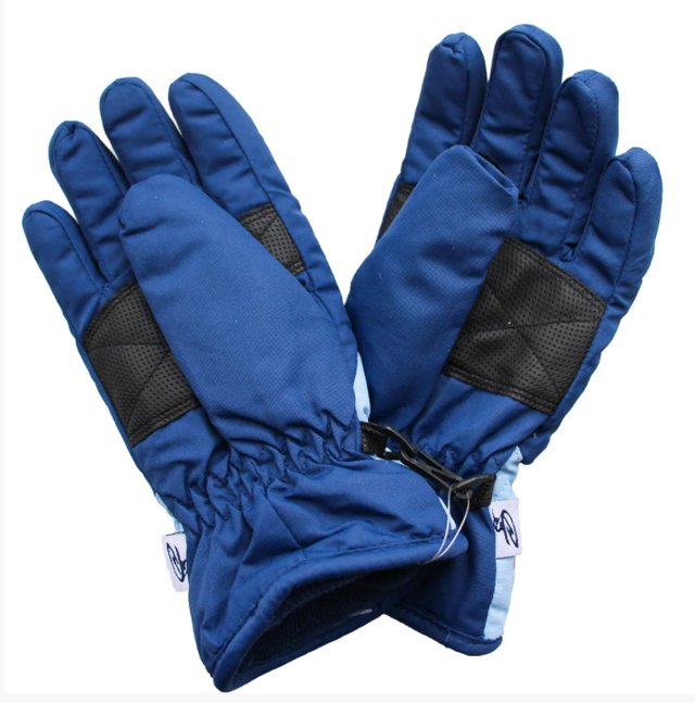зимові теплі рукавички дитячі сині