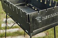 Раскладной мангал чемодан на 6 шампуров, 3 мм. в чехле .