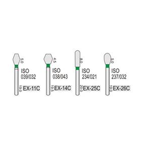 Алмазные турбинные боры грубые (125-150μ), EX - специальной (дополнительной) формы