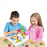 Конструктор мозаика пазл детский Puzzle Peg с шуруповертом в чемодане ( 224 детали ), фото 2