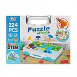 Конструктор мозаика пазл детский Puzzle Peg с шуруповертом в чемодане ( 224 детали ), фото 4