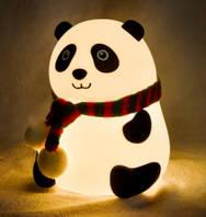 Дитячий нічник Панда силіконовий (м'який світильник)