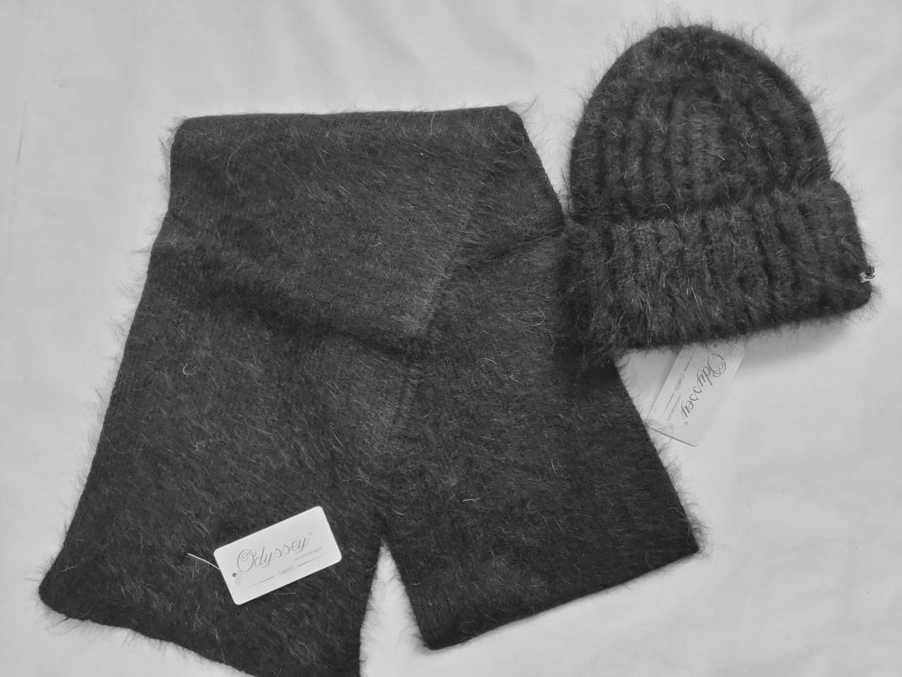 Комплект шапка плюс шарф Алвина 45148  ODYSSEY черный